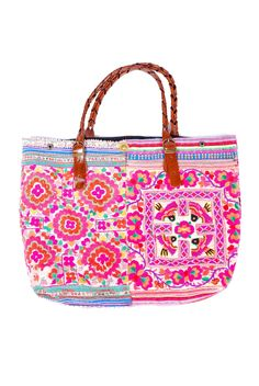 Embroidered Boho Tote