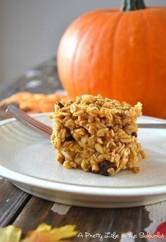 perfect fall breakfast:  baked pumpkin oatmeal