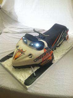 Snowmobile Groom's Cake by Infinite Sweets