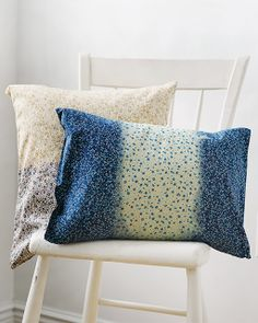 I love using color-remover on patterned fabric -- the result is so interesting and unexpected -- and EASY! Sweet Paul's Color-Stripped Patterned Pillows
