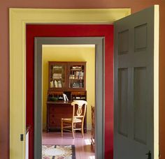 Photography by Gridley + Graves New Hampshire colonial red + green + yellow, Country Living