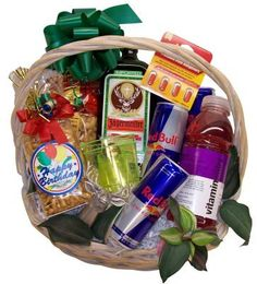 21st Bday Gift Basket Idea
