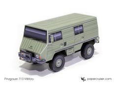Steyr-Puch Pinzgauer 710 paper model | http://papercruiser.com/downloads/pinzgauer-710-4x4/