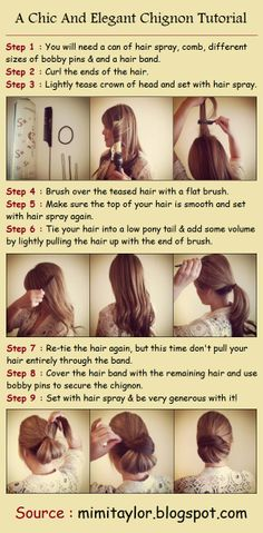 A Chic And Elegant Chignon Tutorial- I really want to do this!