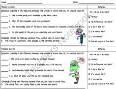 Active and Passive Voice with Zombies Daily Practice with Friday Quiz from MasteringMiddleSchool on TeachersNotebook.com -  (5 pages)  - Active and Passive Voice Daily Practice Worksheet with Friday Quiz