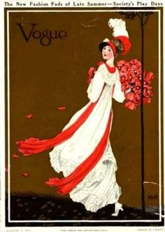 vintage vogue magazine cover; charming!  I'd totally frame it...