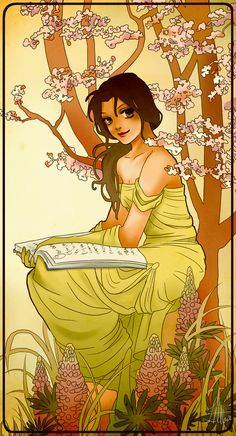Belle, Beauty and the Beast | These Mucha-Inspired Disney Princesses Are Stunning