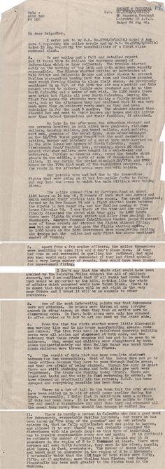 Extracts from a military report on the Calcutta riots, 24 August 1946 Catalogue reference: WO 216/662 (Includes audio recording of document)  Education | Education | Topics | The Road to Partition