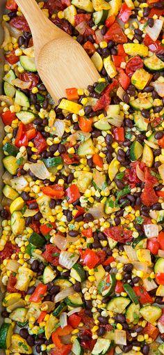 Roasted Veggie and Black Bean Tacos #recipe