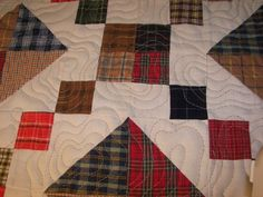 machine quilting on masculine quilts | Elaine Adair Pieces: Buckeye Beauty, Masculine Quilting