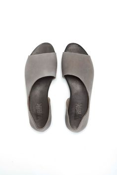 Grey summer open toe shoes