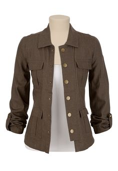 4 Pocket Military Shirt (I would use as a little jacket) available at #Maurices