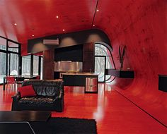 interior, houses, living rooms, living room ideas, modern architecture, room decorating ideas, red room, modern homes, red walls