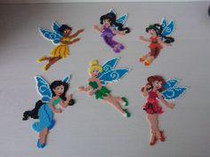 Disney Fairies (Tinker Bell, Silvermist, Rosetta, Fawn, Iridessa, Vidia) hama perler beads by Sasha Nielsen