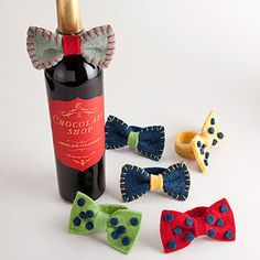 Wine Bottle Bow Tie, Set of 2 | World Market