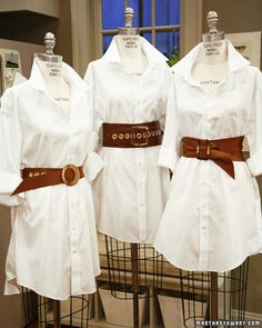 Homemade leather belts