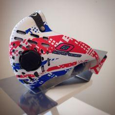 Respro® Skins™ pollution mask - PATRIOT #matchyourstyle Respro.com/pollution-masks/skins