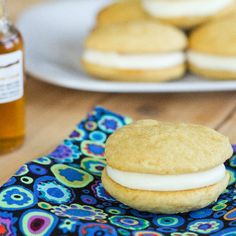 Brown Sugar flavored Whoopie Pie filled with a Maple Butter Cream Frosting