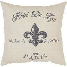 I pinned this Hotel De Lys Pillow from the Boutique Beauchene event at Joss and Main!