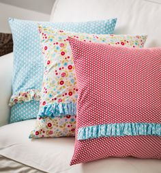 Cute-as-can-be pillows made with Stampin' Up! Designer Fabric.