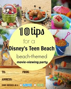 10 beach-themed tips for a Disney's Teen Beach movie-viewing party!