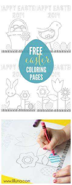 Free Easter Coloring Pages - perfect for the kiddos on Easter Day! { lilluna.com } #easter