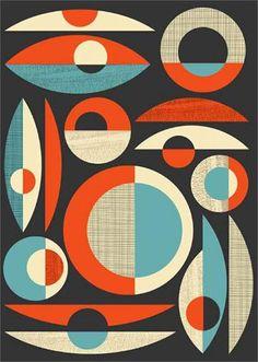 Mid Century Modern Modernist  Prints JS