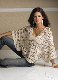 Cream Top - crochet