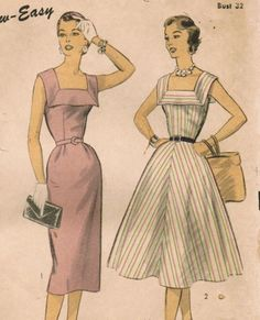 Vintage 1953 Advance 6643 Dress