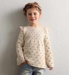 Modèle pull dentelle fille - Modèles tricot enfant - Phildar