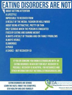 What eating disorders are not...
