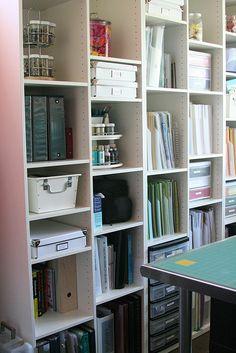 office organization, art studios, room organization, craft organis, craft roomoffic, craft storag, shelv, ikea craft room ideas, craft rooms