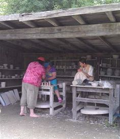 Making handles at Hale  Farm and Village