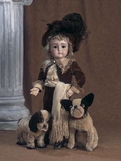 German Bisque Closed Mouth Doll by Kestner. http://Theriaults.com