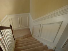 Stair trim view.  love it! ....except the little boy grime it would collect... :)