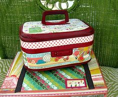 Use an old suitcase as a sewing organizer
