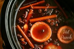 Hot Punch - A Mulled Pomegranate Drink for the Holidays