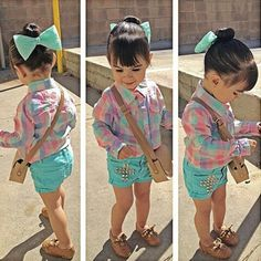 So adorable. Love the hair bow