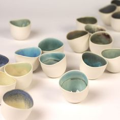 Rie Tsuruta - Cups #pottery #Japanese_pottery #ceramics #Japanese_ceramics  #cup #teacup