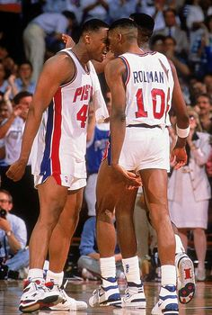 Rick Mahorn Dennis Rodman Detroit Pistons