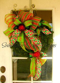 Side Swept Deco Mesh Evergreen Wreath by Sweetwater Creek Designs, $54.99