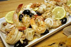 Mediterranean Grilled Seafood with Garlic and Lemon