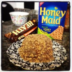 Nutella cheese ball. 12 oz cream cheese blended with 1 jar of Nutella frozen for 2 hours. Crust with crushed Heath bar, chocolate chips or nuts.