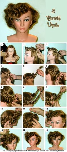 Tutorial: 3 Braid Updo