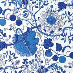 pattern, blue, josef frank, textiles, joseffrank