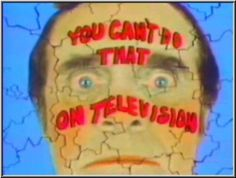 you cant do that on television