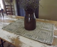 Primitive Colonial Woven Table Topper