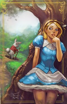 """""""The White Rabbit and Alice"""" by Siya Oum"""