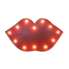 Light up a room with this whimsical marquee sign. It's so sweet, you'll want to give the room a kiss! Made of unsealed sheet metal with a hefty dose of glamorous glitter, it will only look better as it naturally ages.