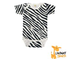 Zebra Onesie with pants too.  Different sizes for that perfect baby gift!  Gisele's